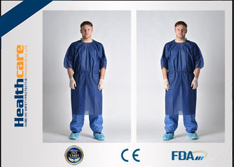 Waterproof Short Sleeve Disposable Patient Gown PP / SMS / SMMS / SMMMS Material