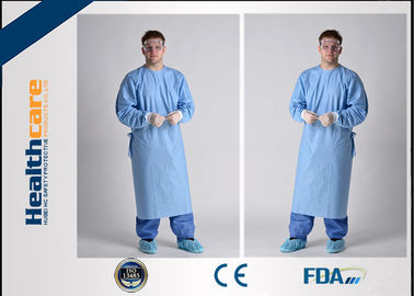 Breathable Sterile Disposable Hospital Gowns 4 Ties Adjustable Neck Free Sample
